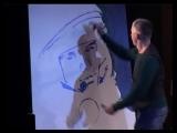 Художник Дмитрий Лукин. Рисую портрет Юрия Гагарина за три минуты.