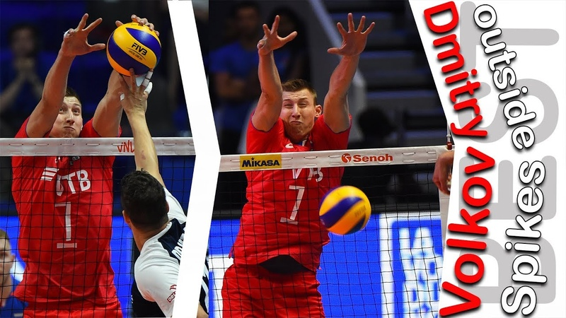 Top 10 incredible action from Dmitry Volkov | best OUTSIDE SPIKES VNL 2018