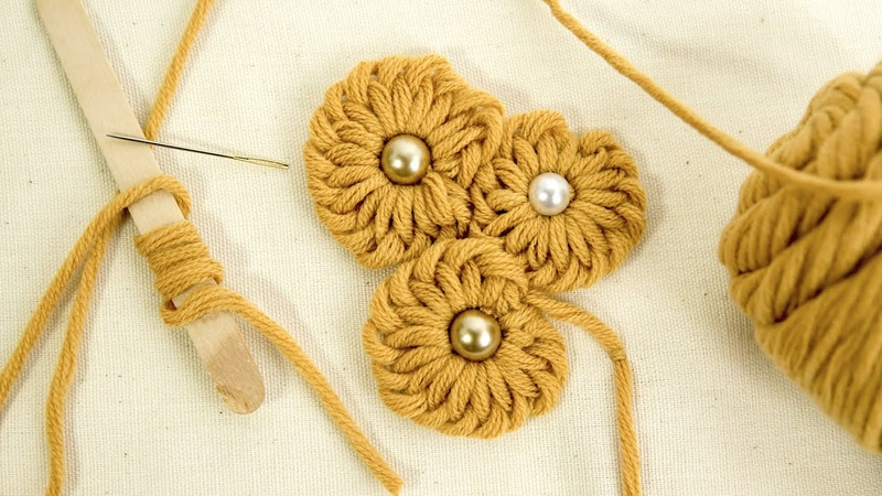 Fun Easy Flower Ideas: Embroidery Tricks with Yarns by HandiWorks