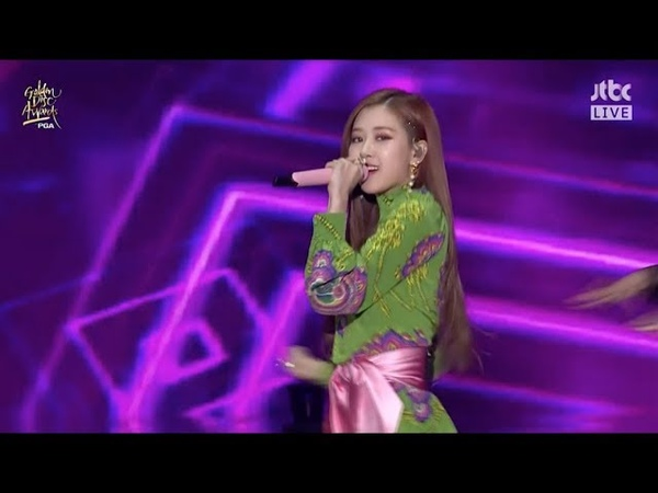 BLACKPINK '불장난 PLAYING WITH FIRE '  '마지막처럼 AS IF IT'S YOUR LAST ' in 2018 Golden Disc Awards