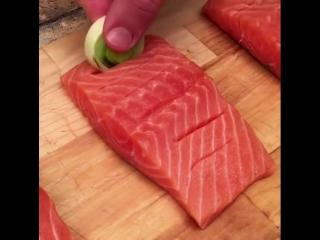 Слоеная выпечка с лососем | Больше рецептов в группе Кулинарные Рецепты