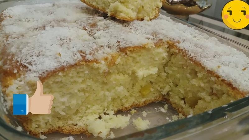 ПИРОГ СПЛОШНОЕ УДОВОЛЬСТВИЕ TENDER CAKE WITH A COCONUT GRAVY