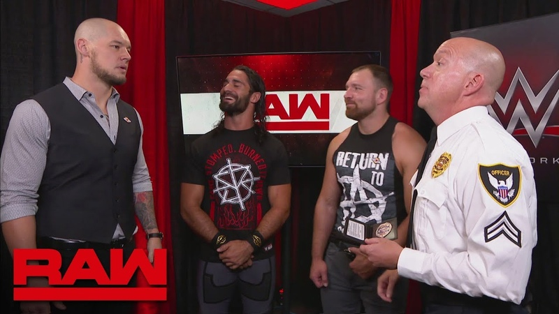 Dean Ambrose Seth Rollins consider pressing charges against Baron Corbin: Raw, Sept. 10, 2018