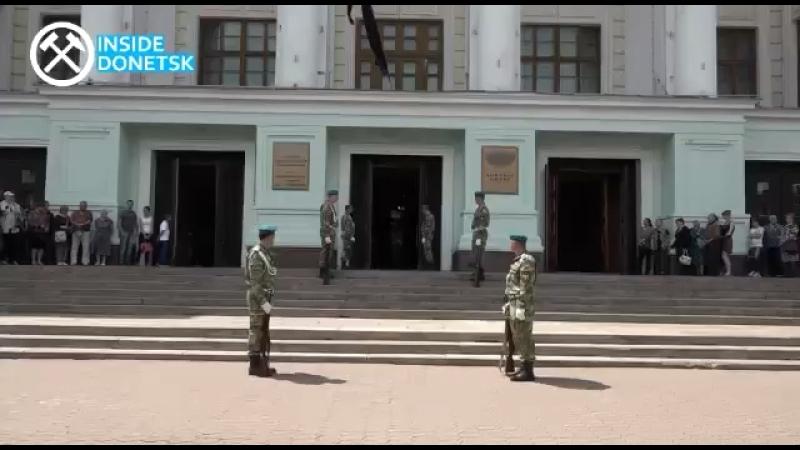 OssVes Прощание с Олегом Мамиевым в Донецке