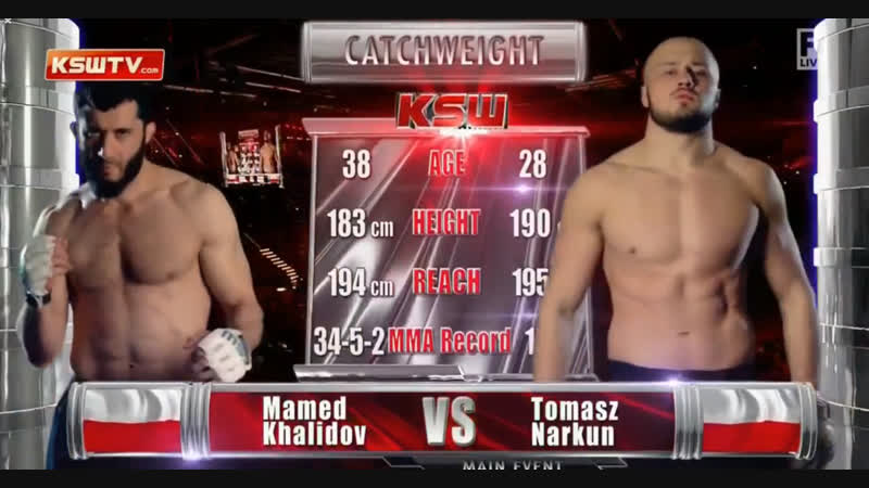 KSW 46 Мамед Халидов - Томаш Наркун