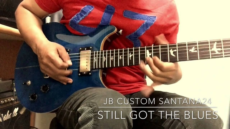 Gary moore-still got the blues(solo cover) JB Custom shop SANTANA24