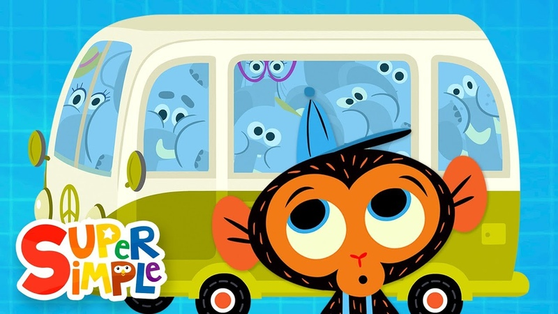 The Elephant Family's Van Is Too Small | Cartoon For Kids