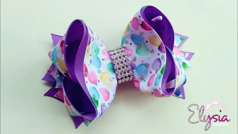 Boutique Victoria Ribbon Bow Tutorial 🎀 DIY by Elysia Handmade