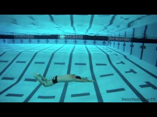 Butterfly dolphin kick underwater