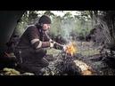 Bushcraft overnighter, camp setup, flint steel, nying campfire, wood spirit and deer spotting.