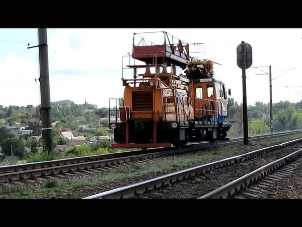 {TRAINS} Автомотриса АДМ-484 с приветливой локомотивной бригадой [12.09.2018]