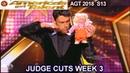 Lioz Shem Tov Comedian Magician REALLY HILARIOUS America's Got Talent 2018 Judge Cuts 2 AGT