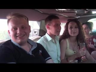 На свадьбе сестры в лимузине ))))