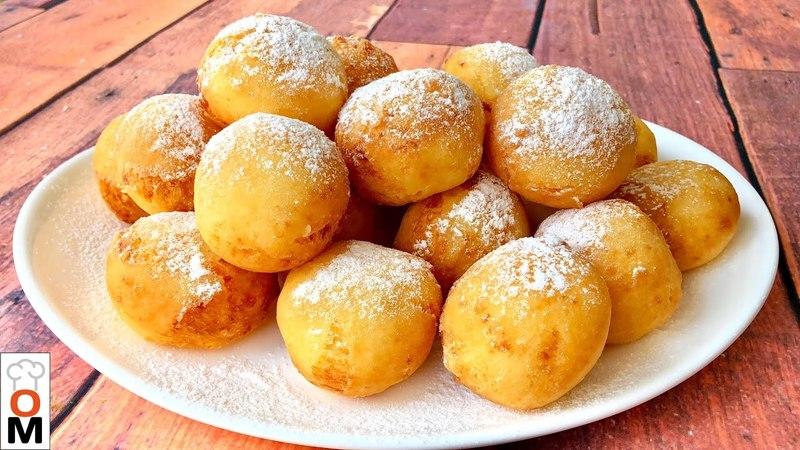 Воздушные Творожные Пончики На Скорую Руку Осторожно можно съесть целое ведро