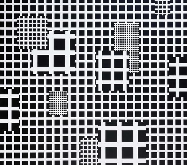 Esther Stocer ( 1974 г.р.) фокусируется на пространственной абстракции и архитектуре, которая переносит зрителей в другое измерение. Черно-белые геометрические ландшафты создаются путем