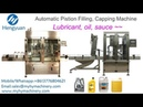 Automatic piston filling capping machine motor oil bottle filling capping MC