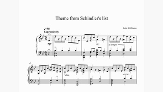 John Wilams - Theme from Schindler's list (g-moll)