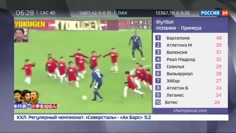 Новости на Россия 24 • Непростой тест: трое футболистов-профессионалов против 100 школьников