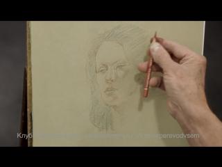 Рисуем женский портрет в трех цветах
