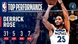 Derrick Rose Drops 31 And A CAREER HIGH 7 3-Pointers In Los Angeles | November 7, 2018 #NBANews #NBA #Timberwolves #DerrickRose