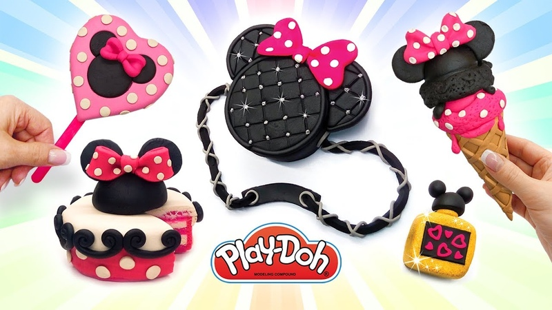 ✅Making Minnie Mouse Treats and Stuff out of Play Doh. DIY Video Compilation. Disney Toys for Kids