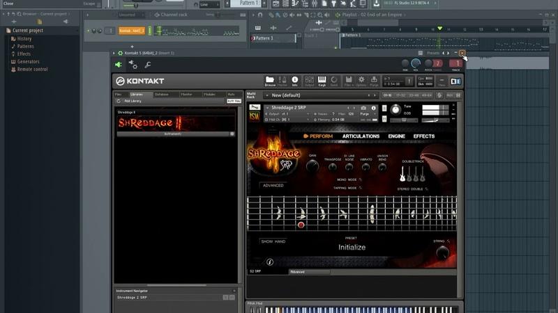Celldweller - End of an Empire (Guitar Pro 6 Shreddage 2 SRP (Kontakt 5))