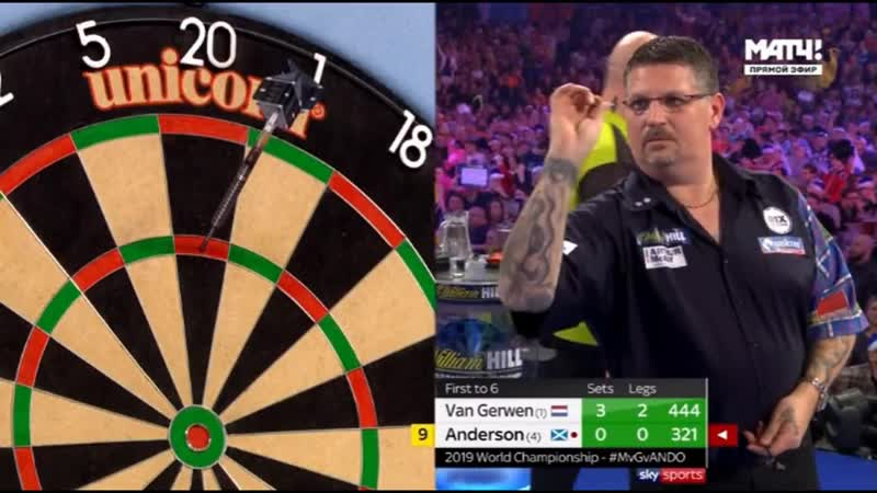 2019 World Darts Championship Semi Final van Gerwen vs Anderson