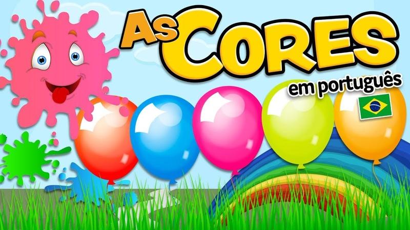 AS CORES em português para crianças