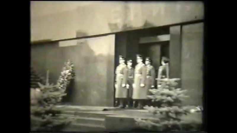 Смена караула у мавзолея Ленина 1980 е годы