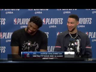 Embiid apologized for his flagrant on allen and ben couldnt believe it