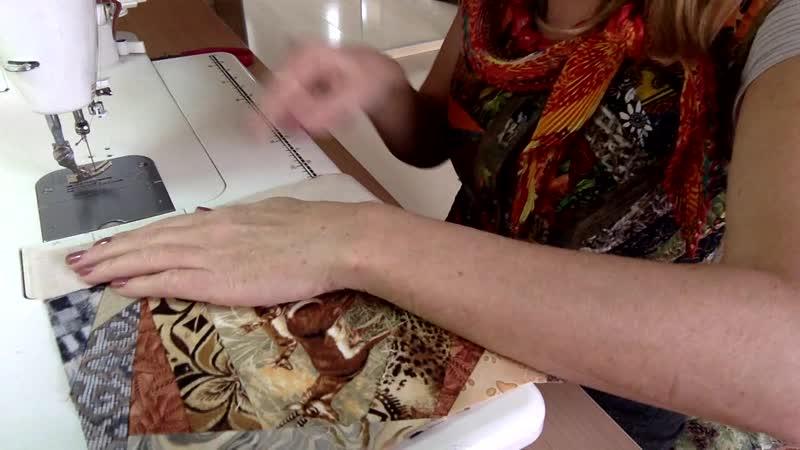 Лоскутный эфир 97. Продолжаем шить лоскутное одеяло для подростка Дикая Африка