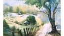 Watercolor PaintingWatercolor landscape painting demonstration without drawing Prashant Sarkar