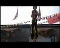 Kung fu fight on stilts