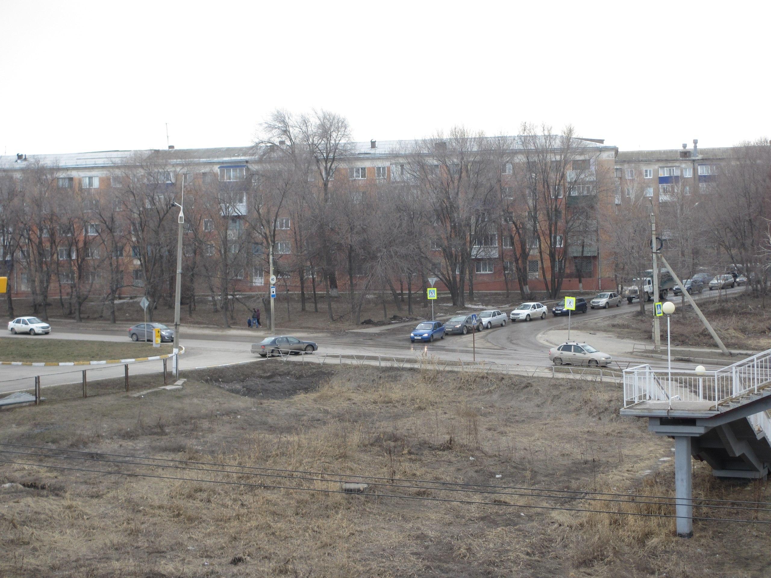 Автомобильный поток в Сызрани