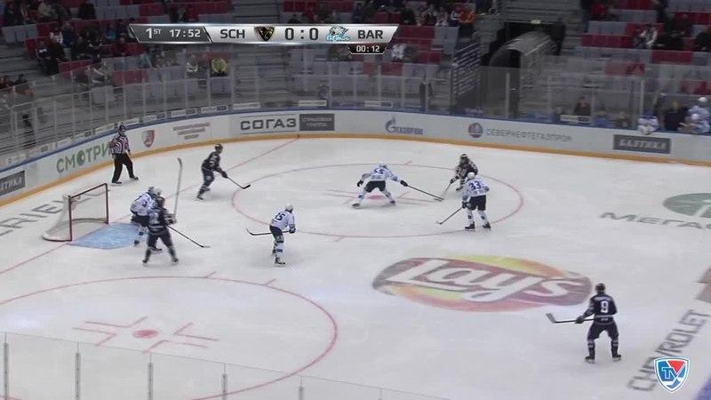 Моменты из матчей КХЛ сезона 14/15 • Гол. 1:0. Вярн Макс (ХК Сочи) дальний угол поразил, обыграв голкипера 04.02