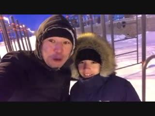 Доброе и бодрое утро Руслана Проводникова с сыном 💪🏽