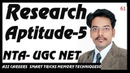 Research Aptitude 5 and Methodology NTA UGC NET Exam Qus 41 to 50 Part 5th in Hindi