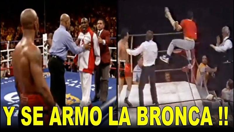 ¡¡ Y SE ARMO LA BRONCA EN EL RING !! Lo mas loco del boxeo