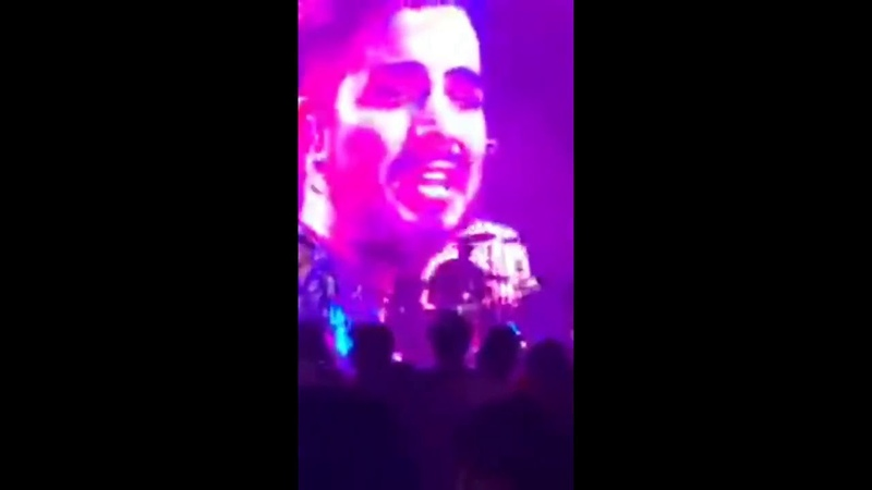 Adam Lambert Stay clips , Manila private event, December 9
