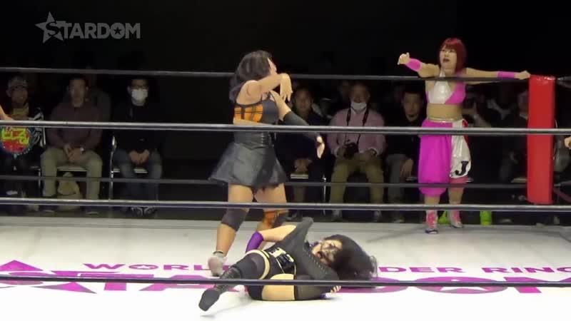 (4) Hazuki, Kagetsu Natsu Sumire vs. Jungle Kyona, Natsuko Tora Ruaka (Trios Tournament Round One)