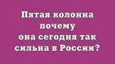 Пятая колонна – почему она сегодня так сильна в России