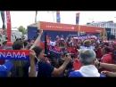 Панамцы зажигают у стадиона