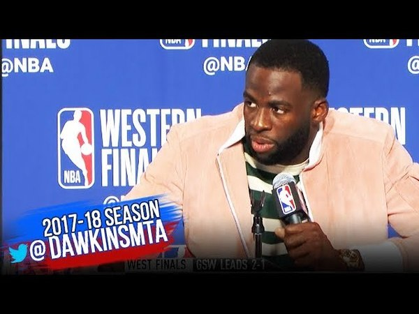 Draymond Green Postgame Interview Warriors Rockets Game 3 2018 WCF FreeDawkins