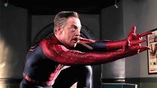 Джона Джеймсон в костюме человека паука Удаленная сцена Человек паук 2