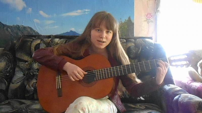 Песня Катюша, гитара, исполняет Виктория Агафонова,