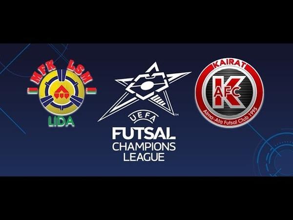 UEFA Futsal Champions League   Grupo D   Jornada 2   LSM Lida 2-7 Kairat Almaty