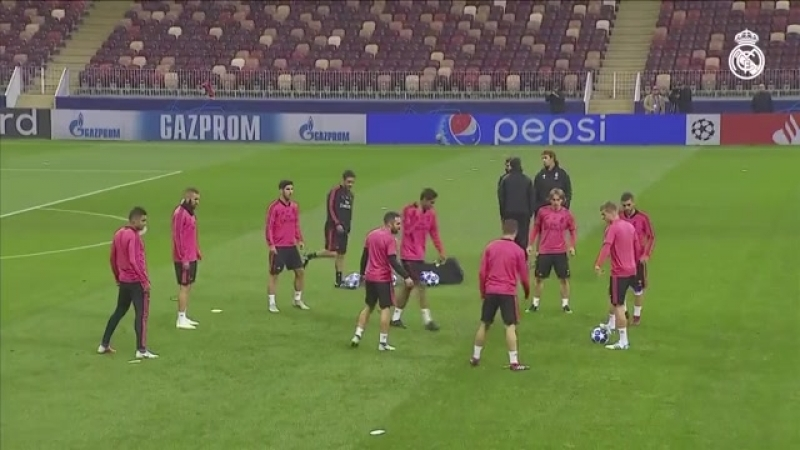 Real Madrid Training at the Luzhniki Stadium