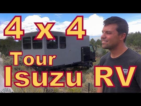 Tour of an Isuzu Truck Converted to 4X4