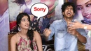 Jhanvi Kapoor's FUNNY Moment Dropping Reporters Mic Again Again During Dhadak Movie Promotions