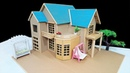 How To Make A Beautiful Mansion House From Cardboard With Dimensions - Popsicle Stick House